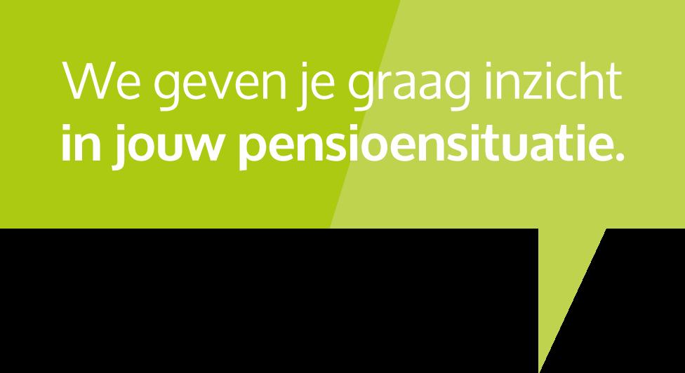 Tekstballon groen pensioenen