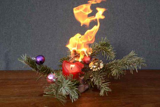Voorkom kerstbrand!